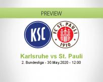 Karlsruher SC St. Pauli betting prediction (30 May 2020)