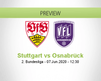 Stuttgart Osnabrück betting prediction (07 June 2020)