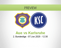 Erzgebirge Aue Karlsruher SC betting prediction (07 June 2020)