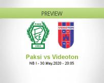 Paksi SE Videoton betting prediction (30 May 2020)