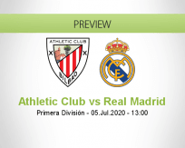 Athletic Club Real Madrid betting prediction (05 July 2020)