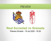 Real Sociedad Granada betting prediction (10 July 2020)