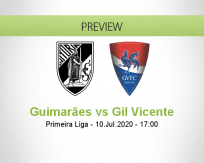 Vitória Guimarães Gil Vicente betting prediction (10 July 2020)