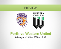 Perth Glory Western United betting prediction (12 August 2020)