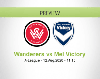 Western Sydney Wanderers Melbourne Victory betting prediction (12 August 2020)