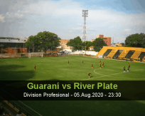 Guaraní River Plate betting prediction (06 August 2020)