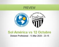 Sol de América 12 de Octubre betting prediction (06 August 2020)