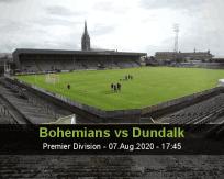 Bohemians Dundalk betting prediction (07 August 2020)