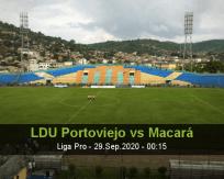 LDU Portoviejo Macará betting prediction (29 September 2020)