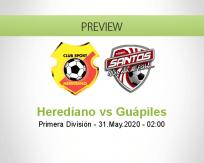 Herediano Santos de Guápiles betting prediction (31 May 2020)