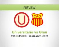 Universitario Atlético Grau betting prediction (26 September 2020)