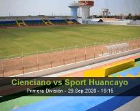 Cienciano Sport Huancayo betting prediction (29 September 2020)