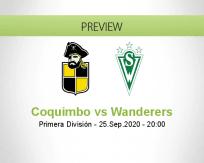 Coquimbo Unido Santiago Wanderers betting prediction (26 September 2020)