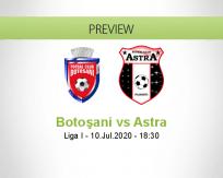 Botoşani Astra betting prediction (10 July 2020)