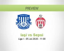 CSM Iaşi Sepsi betting prediction (05 July 2020)