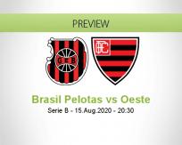 Brasil de Pelotas vs Oeste