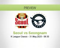 Seoul Seongnam betting prediction (31 May 2020)