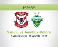 Sangju Sangmu Jeonbuk Motors betting prediction (05 July 2020)