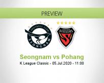 Seongnam Pohang Steelers betting prediction (05 July 2020)