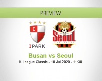 Busan I'Park Seoul betting prediction (10 July 2020)