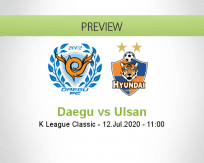 Daegu Ulsan betting prediction (12 July 2020)