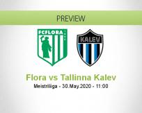 Flora Tallinna Kalev betting prediction (30 May 2020)