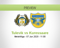 Tulevik Kuressaare betting prediction (07 June 2020)