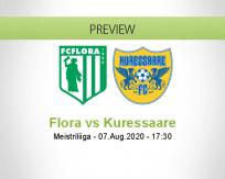 Flora Kuressaare betting prediction (07 August 2020)