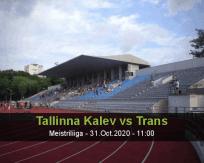 Tallinna Kalev Trans betting prediction (31 October 2020)
