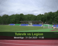 Tulevik Legion betting prediction (31 October 2020)