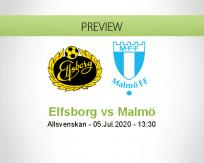 Elfsborg Malmö FF betting prediction (05 July 2020)