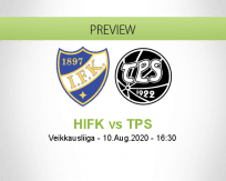 HIFK TPS betting prediction (10 August 2020)