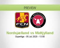 Nordsjælland Midtjylland betting prediction (05 July 2020)