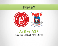 AaB AGF betting prediction (09 July 2020)