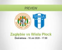 Zagłębie Lubin Wisła Płock betting prediction (10 July 2020)