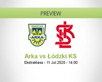 Arka Gdynia ŁKS Łódź betting prediction (11 July 2020)