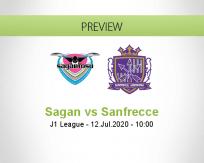Sagan Tosu Sanfrecce Hiroshima betting prediction (12 July 2020)