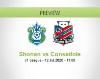 Shonan Bellmare Consadole Sapporo betting prediction (12 July 2020)