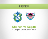 Shonan Bellmare Sagan Tosu betting prediction (21 October 2020)