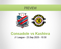 Consadole Sapporo Kashiwa Reysol betting prediction (23 September 2020)