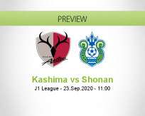 Kashima Antlers Shonan Bellmare betting prediction (23 September 2020)