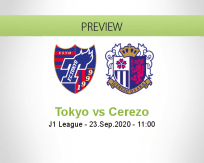 Tokyo Cerezo Osaka betting prediction (23 September 2020)