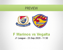 Yokohama F. Marinos Vegalta Sendai betting prediction (23 September 2020)