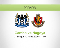 Gamba Osaka Nagoya Grampus betting prediction (23 September 2020)