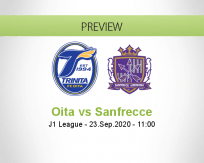 Oita Trinita Sanfrecce Hiroshima betting prediction (23 September 2020)