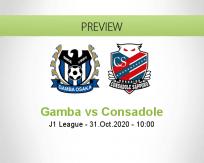 Gamba Osaka Consadole Sapporo betting prediction (31 October 2020)