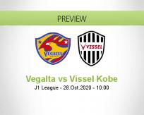 Vegalta Sendai Vissel Kobe betting prediction (28 October 2020)