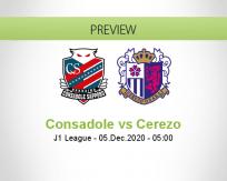 Consadole Cerezo betting prediction (05 December 2020)
