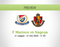 Yokohama F. Marinos Nagoya Grampus betting prediction (21 October 2020)
