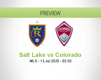 Real Salt Lake Colorado Rapids betting prediction (13 July 2020)
